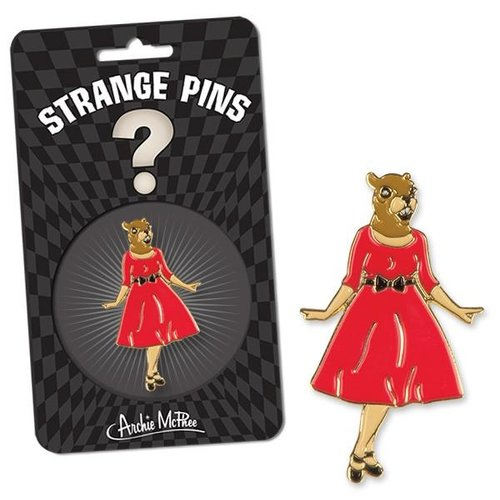 Archie McPhee PIN: SQUIRREL IN RED DRESS