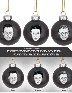 ACCOUTREMENTS ORNAMENT EXISTENTIALIST (3)