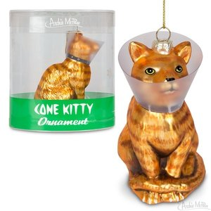 Archie McPhee ORNAMENT CONE KITTY
