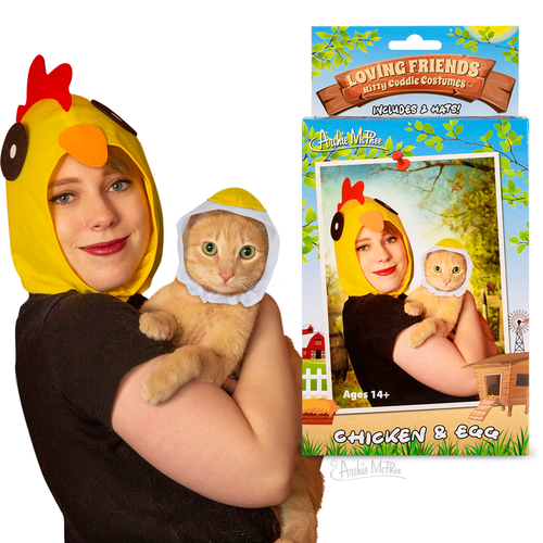 Archie McPhee LOVING FRIENDS KITTY CUDDLE COSTUMES: CHICKEN & EGG