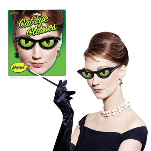 Archie McPhee GLASSES CATS EYE