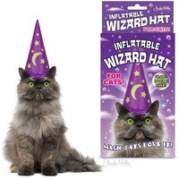 INFLATABLE CAT WIZARD HAT