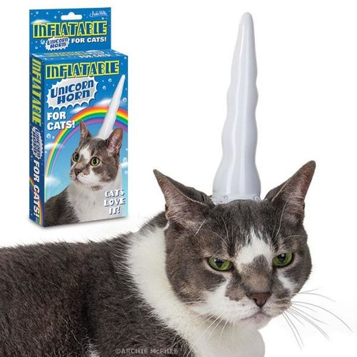 Archie McPhee CAT UNICORN HORN