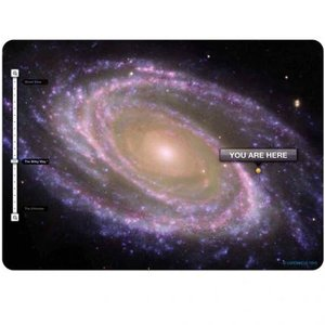 COPERNICUS TOYS POSTCARD YOU ARE HERE GALAXY