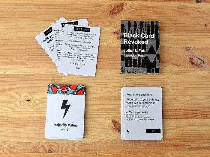 ZZCARDS FOR ALL PEOPLE BLACK CARD REVOKED JOLLOF & FUFU