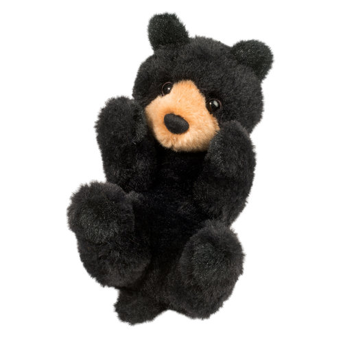 Douglas Cuddle Toys BLACK BEAR LIL' HANDFUL 6""