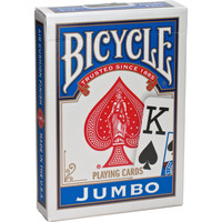 BICYCLE POKER BLUE JUMBO