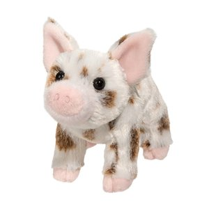 Douglas Cuddle Toys YOGI BROWN SPOTTED PIG 7""