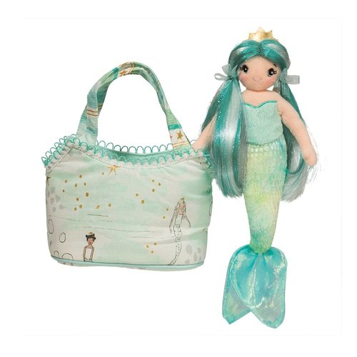 Douglas Cuddle Toys PRINCESS MERMAID SASSY SAK SEAFOAM GREEN