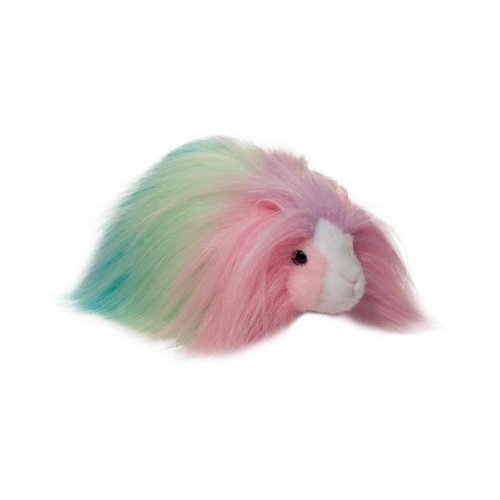 "Douglas Cuddle Toys CHEESECAKE RAINBOW GUINEA PIG FUR FUZZLE 9"""