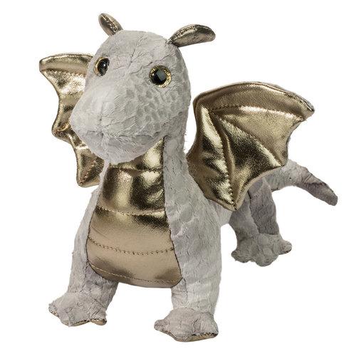 """Douglas Cuddle Toys HYDRA SILVER BABY DRAGON 8.5"""""""
