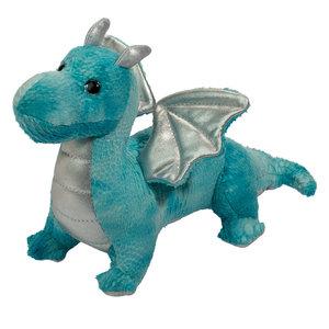 """Douglas Cuddle Toys RYU BLUE BABY DRAGON 8.5"""""""