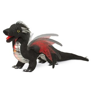 Douglas Cuddle Toys EMBER LIGHT & SOUND BLACK DRAGON 25""