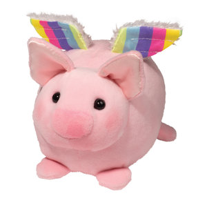 "Douglas Cuddle Toys FLYING PIG MACAROON 6"""