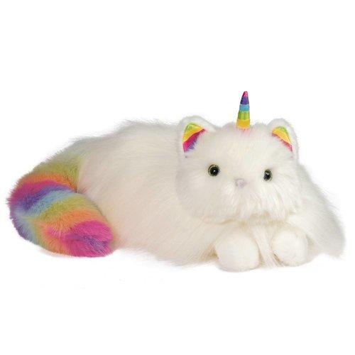 "Douglas Cuddle Toys ZIGGY RAINBOW CATICORN FUR FUZZLE 15"""