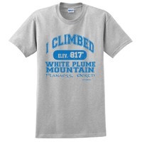 T-SHIRT I CLIMBED WHITE PLUME MOUNTAIN