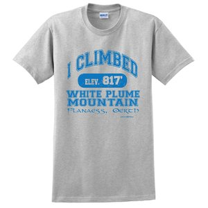 JBM PRESS T-SHIRT I CLIMBED WHITE PLUME MOUNTAIN