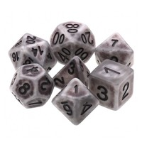 DICE SET 7 OPAQUE ANCIENT SILVER