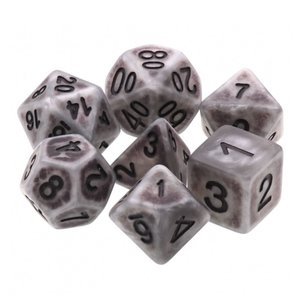 HD Dice DICE SET 7 OPAQUE ANCIENT SILVER