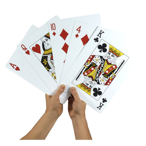 "SCHYLLING JUMBO PLAYING CARDS 8.5""x11"""