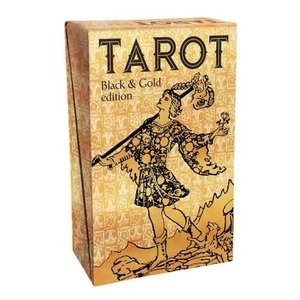 LLEWELLYN WORLDWIDE TAROT BLACK & GOLD FOIL