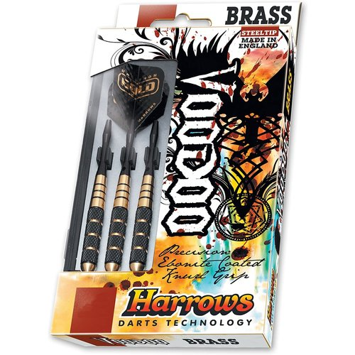 Harrows VOODOO BRASS STEEL-TIP DARTS 25G