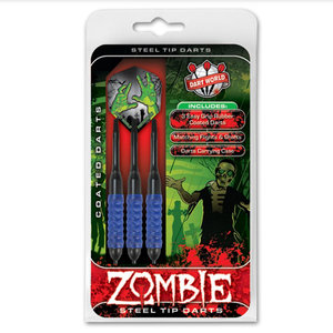 DART WORLD ZOMBIE BLUE COATED STEEL-TIP DARTS 23G