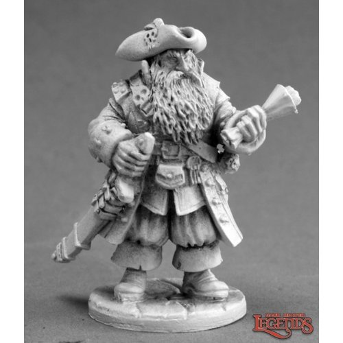 Reaper Miniatures DARK HEAVEN LEGENDS: BARNABUS FROST, PIRATE CAPTAIN