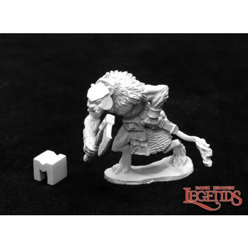 Reaper Miniatures DARK HEAVEN LEGENDS: AZARMAND, CATFOLK BARBARIAN