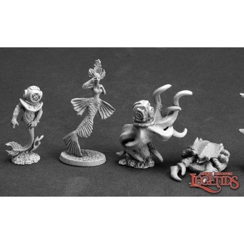 Reaper Miniatures DARK HEAVEN LEGENDS: AQUATIC FAMILIARS II (4)