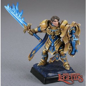Reaper Miniatures DARK HEAVEN LEGENDS: ALMARAN THE GOLD, PALADIN WITH FLAMING SWORD
