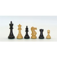 "CHESSMEN 4.25"" STAUNTON BLACK & NATURAL BOXWOOD"
