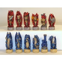 "CHESSMEN 3.25'' DRAGONS ""JUSTICE VS EVIL"""