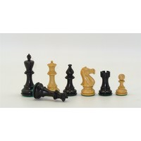"CHESSMEN 3.75"" STAUNTON BOXWOOD w/ 2Q"