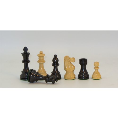 "Worldwise Imports CHESSMEN 3.75"" LARDY BOXWOOD w/ 2Q"
