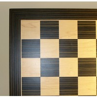 "CHESS BOARD 14"" EBONY & MAPLE VENEER w/ 1.5"" SQUARES"