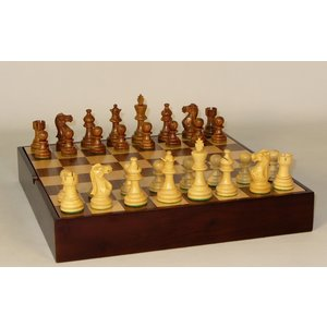 """Worldwise Imports CHESS SET 3"""" AMERICAN EMP on 13.5""""/1.5"""" CHEST"""