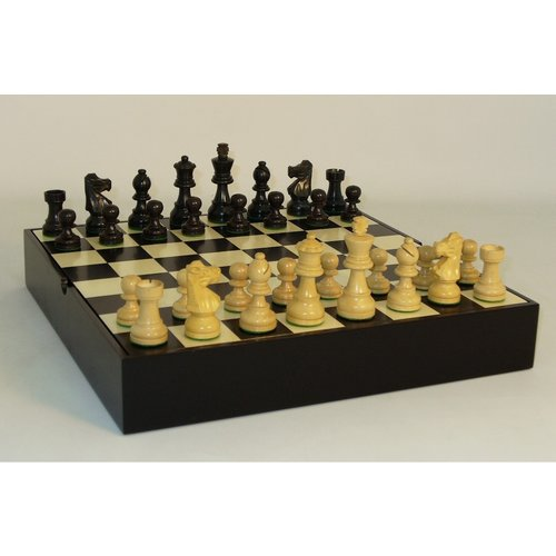 "Worldwise Imports CHESS SET 3"" FRENCH on 13.25""/1.5"" CHEST"