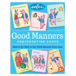 EEBOO FLASH CARDS GOOD MANNERS