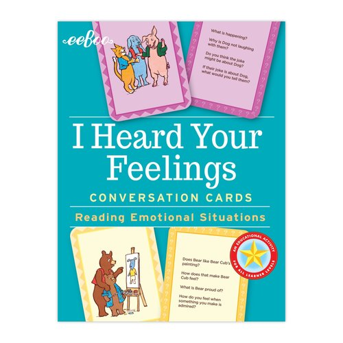 EEBOO FLASH CARDS I HEARD YOUR FEELINGS