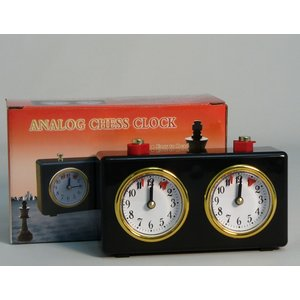 Worldwise Imports CHESS CLOCK ANALOG WIND-UP BLACK