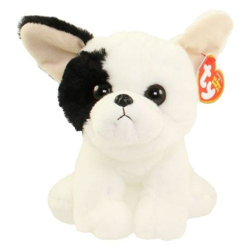 TY INC TY BEANIE MARCEL WHITE DOG