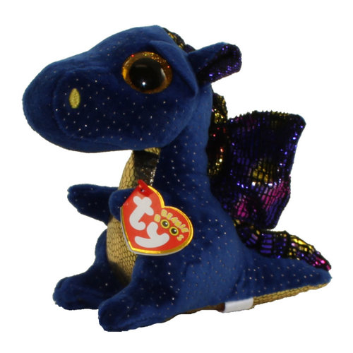 TY INC TY BEANIE BOO SAFFIRE BLUE DRAGON
