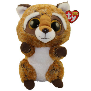 TY INC TY BEANIE BOO RACCOON RUSTY (M)