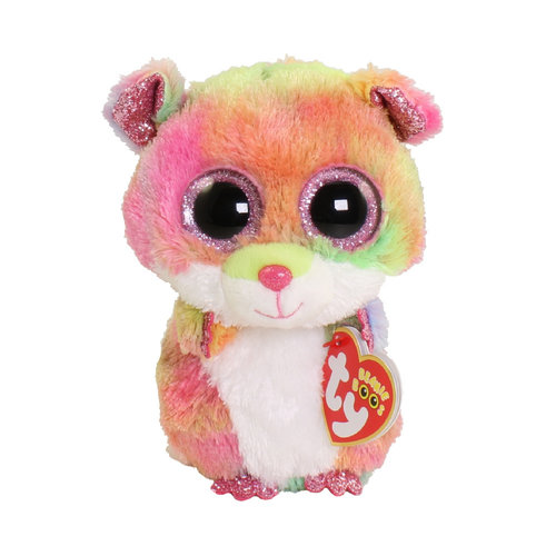 TY INC TY BEANIE BOO RODNEY MULTICOLORED HAMSTER