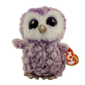 TY INC TY BEANIE BOO OWL MOONLIGHT