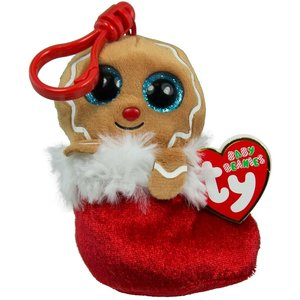 TY INC TY BEANIE BOO GINGERBREAD JINGLY (CLIP)