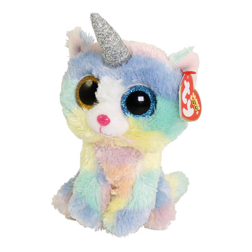 TY INC TY BEANIE BOO CATICORN HEATHER