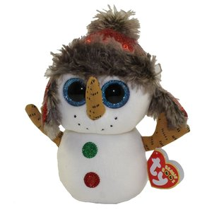 TY INC TY BEANIE BOO SNOWMAN BUTTONS