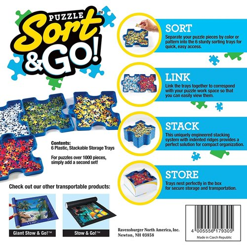 Ravensburger PUZZLE SORT & GO! TRAYS